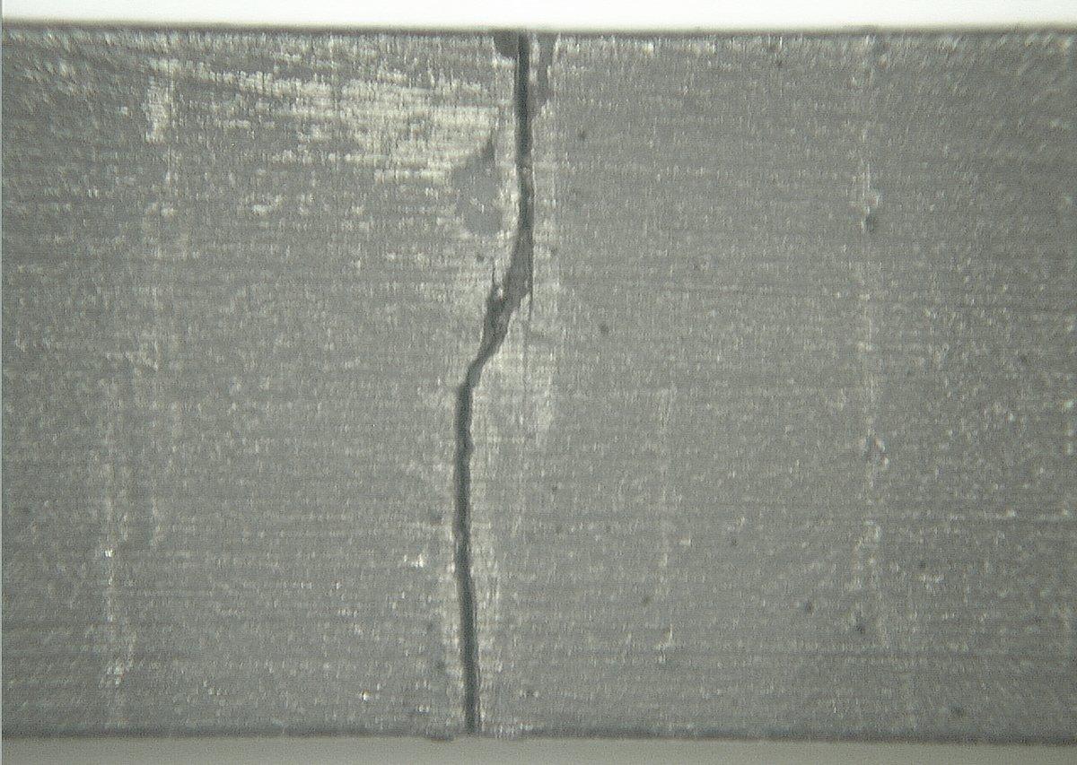 NACE TM0177 Stress Crack on uncoated sample