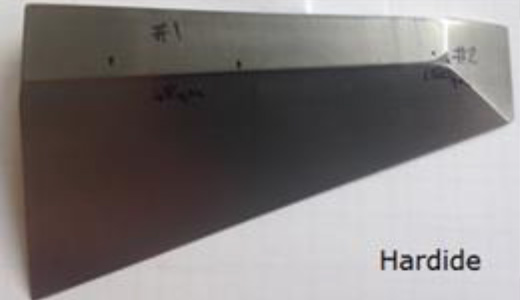 Hardide-T coated stainless steel deflector plate